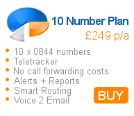 10 x 0844 number plan per year